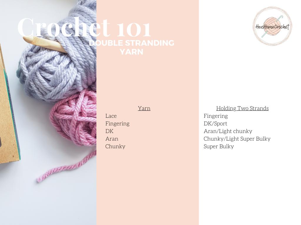 Crochet 101: Double Stranding Yarn
