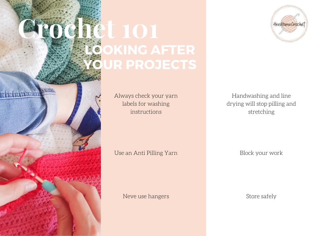 Crochet 101: Looking After Your Finished Projects