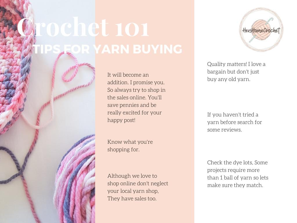 Crochet 101: Yarn Buying Tips