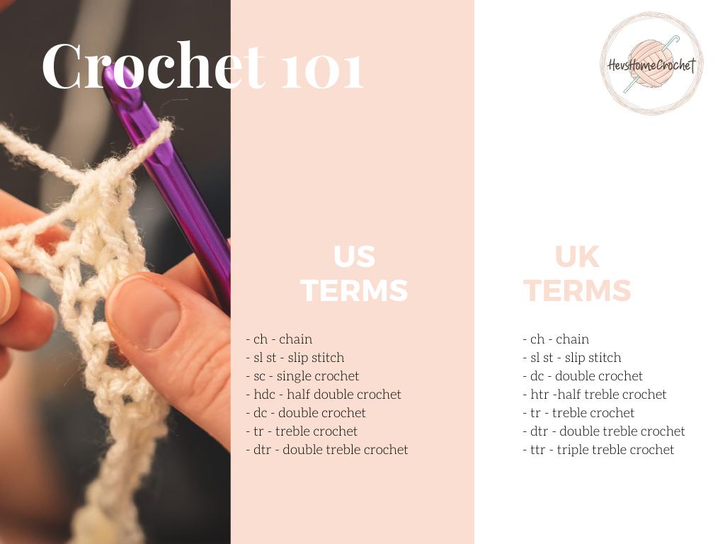 Crochet 101: Crochet Conversion Chart